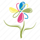 ecology, flower, garden, leaves, petals, spring, summer icon