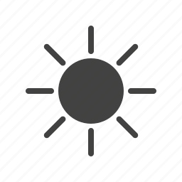 flower, sky, spring, summer, sun, sunny, weather icon