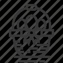 basket, easter, egg, season, spring icon