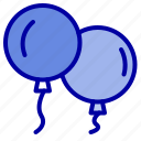 baloons, fly, spring icon