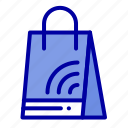 bag, handbag, shopping, wifi icon