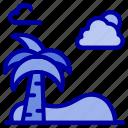 beach, palm, spring, tree