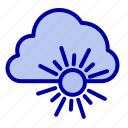 cloud, nature, spring, sun icon