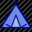 camp, spring, tent, wigwam