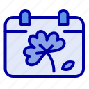 calendar, day, flower, spring icon