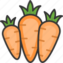 agriculture, carrots, food, vegetables icon
