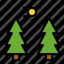 landscape, nature, pine, plant, spring, tree icon