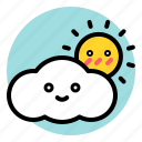 cloud, cloudy, spring, sun icon