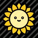 flora, floral, flower, spring, sunflower icon
