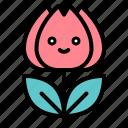 flora, floral, flower, spring, tulip icon