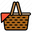 basket, container, picnic, spring icon