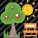 ecology, garden, park, spring, tree icon
