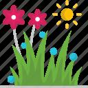 flowers, garden, grass, spring