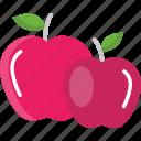 apple, diet, food, fruit, vegan icon