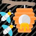 bee, bee hive, beehive, bees, hive icon