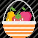 basket, food, fruit, fruits, vegan icon