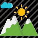 mountain, nature, sunrise, sunset icon