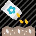 agriculture, fertilizer, organic, seeding, seeds icon