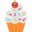 cupcake, dessert, food, muffin, sweet