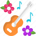 guitar, melody, music, musical instrument icon
