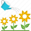 flowers, plant, watering icon