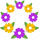 decoration, floral, flower, flowers, wreath