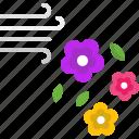air, botanical, flower, flowers, petals icon