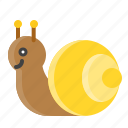 animal, nature, shell, snail, spring icon
