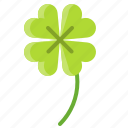 clover, leaf, nature, plant, spring icon
