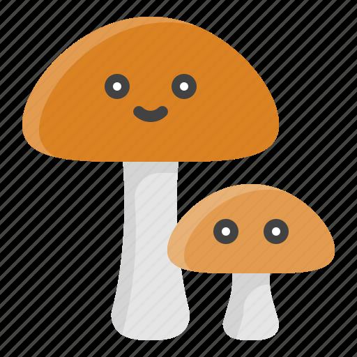 food, fungi, mushroom, nature, spring icon
