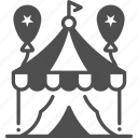 circus, circus tent, cultures, entertainment, tent icon