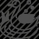 bird, duck, lake, river, water icon