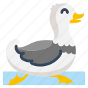 animal, bird, cute, duck, duckling icon