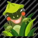 amphibian, animal, cute, frog, green icon