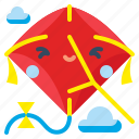 fly, fun, kite, sky, toy icon