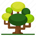 green, landscape, nature, spring, tree icon