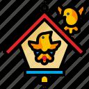 animal, bird, birdnest, nest, spring