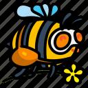 bee, bug, honey, spring icon