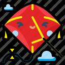 fly, fun, kite, sky, toy icon