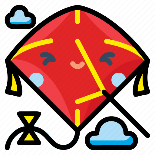 Fly, fun, kite, sky, toy icon - Download on Iconfinder