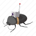 bug, crime, safety, security, signal, spy, technology icon