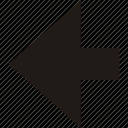 arrow, back, backwards, left, navigation icon