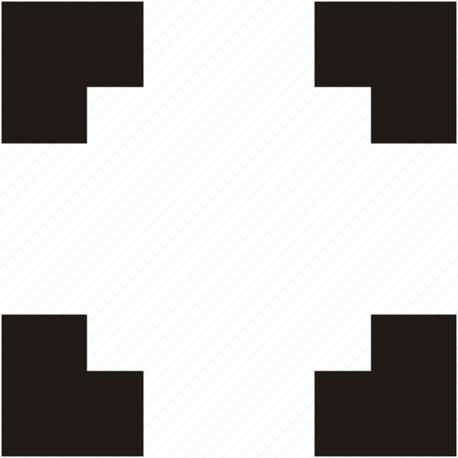enlarge, expand, resize, screen icon