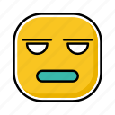 emoji, emotion, expression, face, what icon