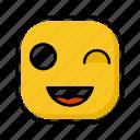 emoji, emotion, expression, face, flirt icon
