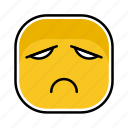 emoji, emotion, expression, face, sadness icon