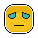 depresion, emoji, emotion, expression, face icon