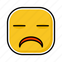 emoji, emotion, expression, face, sad icon