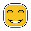 emoji, emotion, expression, face, happy icon