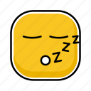emoji, emotion, expression, face, sleep icon